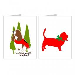 Basset Hound Season's Greetings Note Cards